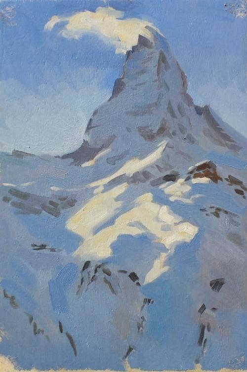 Matterhorn at Noon. 20x30cm