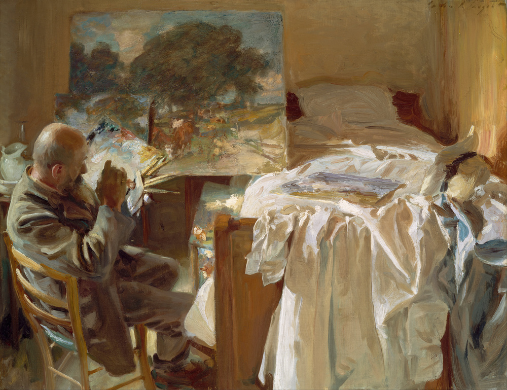 Ambrogio Raffele in his hotel bedroom. 1904
