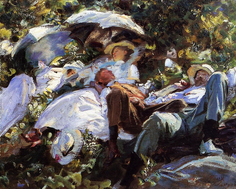 Group with parasols 1904-5