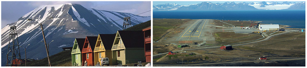 Longyearbyen accommodation and airport.
