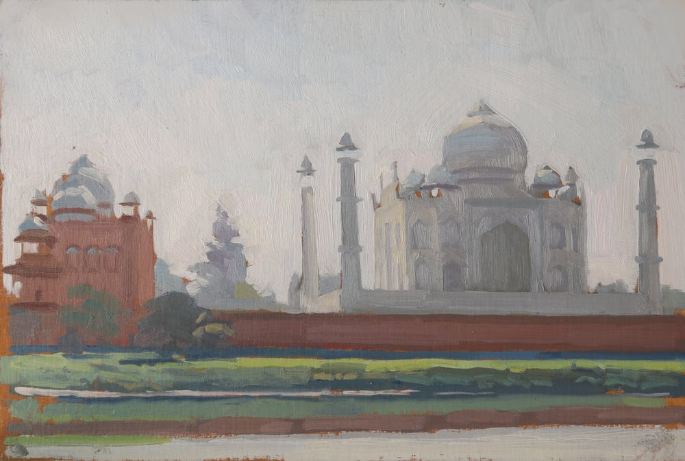 Taj Mahal, from Mehtab Bahg.