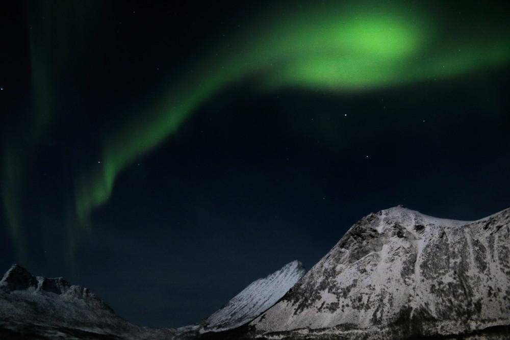The Aurora filled skies above Gryleefjord.