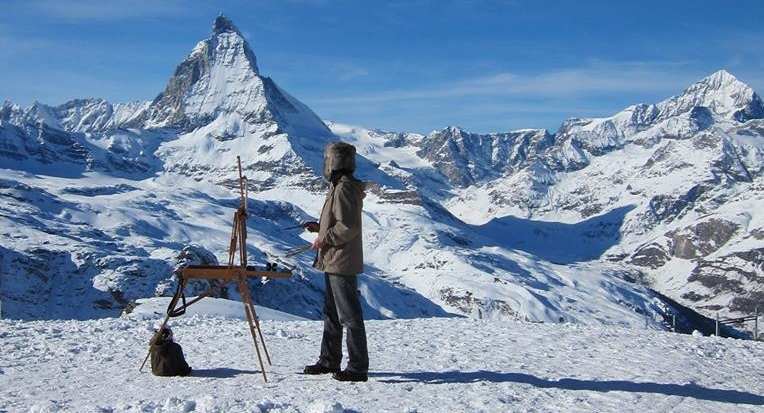 painting in Zermatt