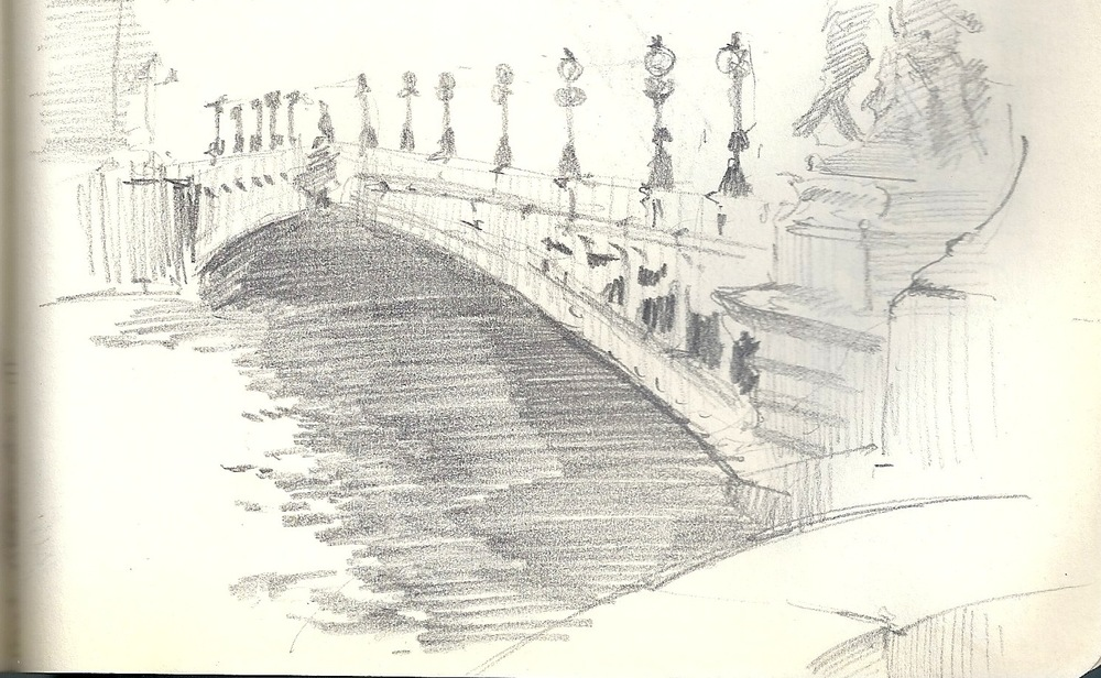 Pont Alexandre III, sketch from May 2011