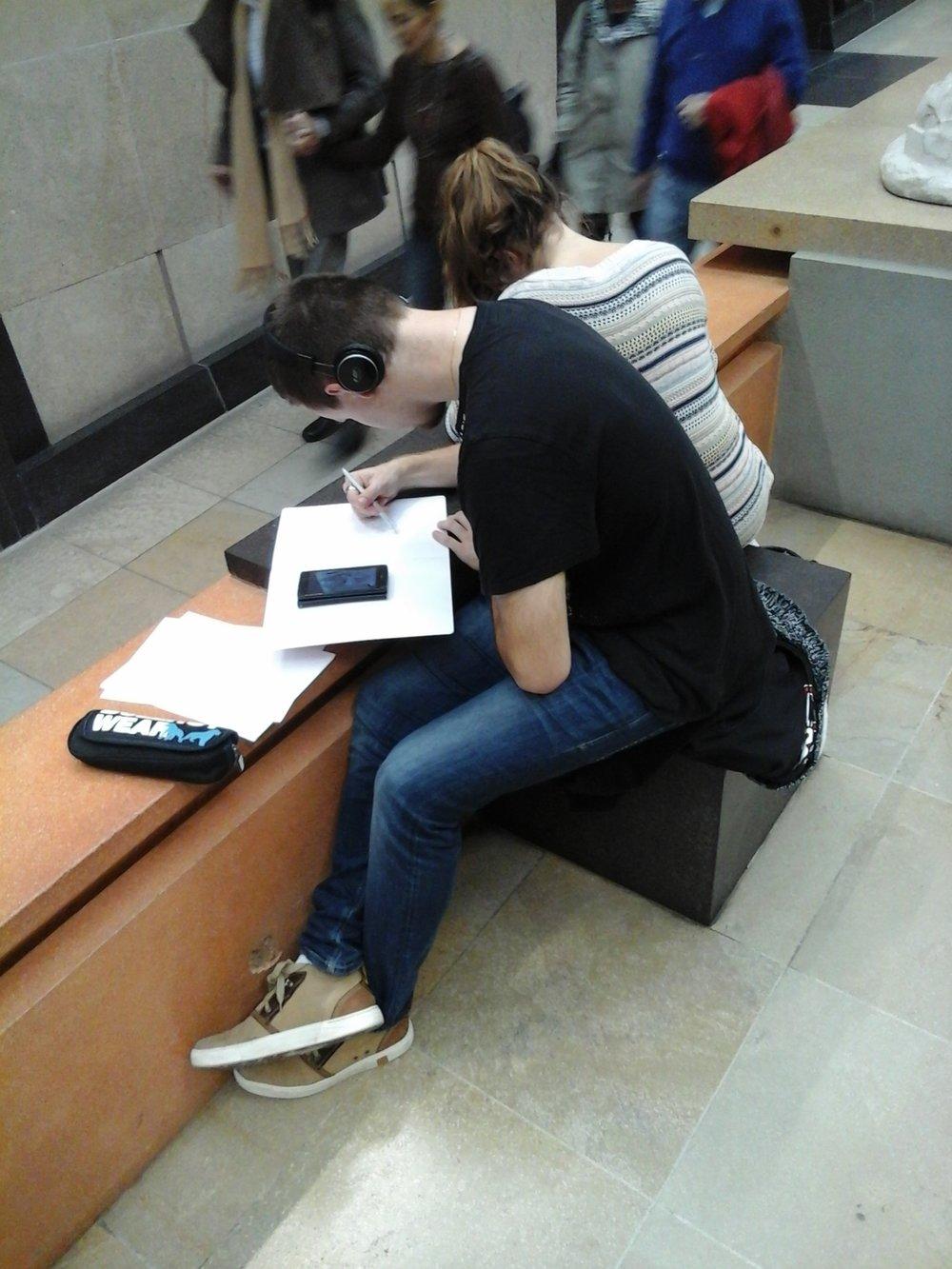 musée d'Orsay. art students
