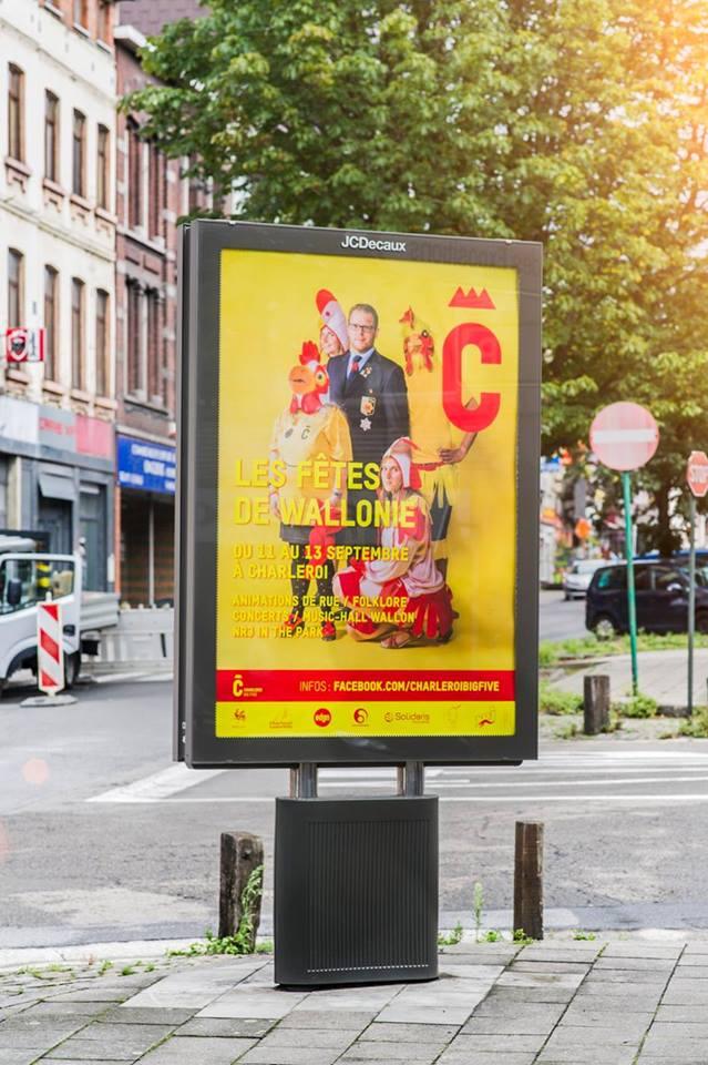 L'affiche des fêtes de Wallonie 2015 - visuel réalisé par le  Studio Fiftyfifty