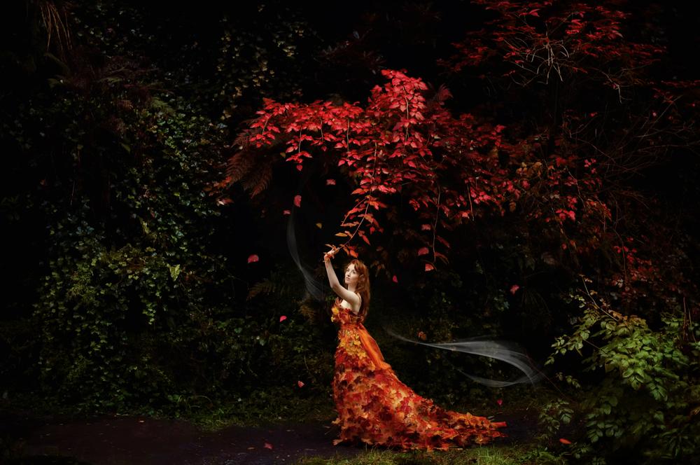 ©Karolina Kotkiewicz,Lady Autumn: Model, Rosie Nolan. Make up and hair, Harriet Gallon. Stylist, Karolina Kotkiewicz