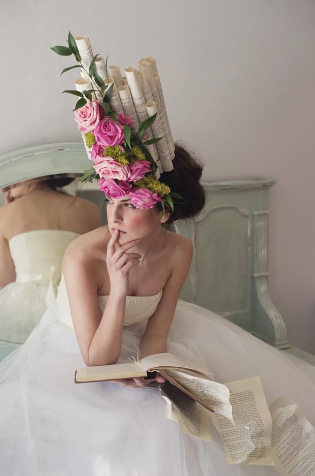 ©Karolina Kotkiewicz,Shakespeare Sisters:Models, Kasia and Marta Welna. Make up and hair, Harriet Gallon. Flowers and accessories, Bloomia Florist.Stylist, Karolina Kotkiewicz