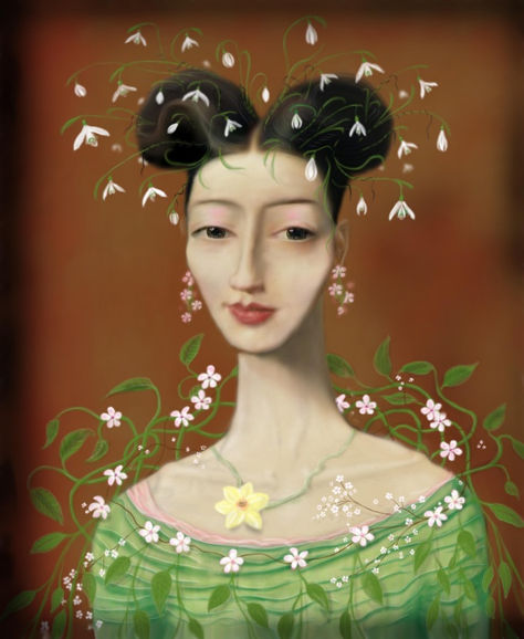 'Miss Han all done up as Spring'© Kevin low