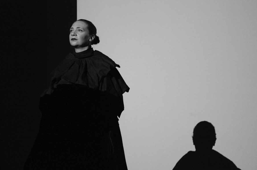 Demeter Song, 2013. Performance, duration 30 minutes. Korean Cultural Centre, London. 'Theresa Hak Kyung Cha (1951-82):A Portrait In Fragments', image courtesy of Ruth Barker