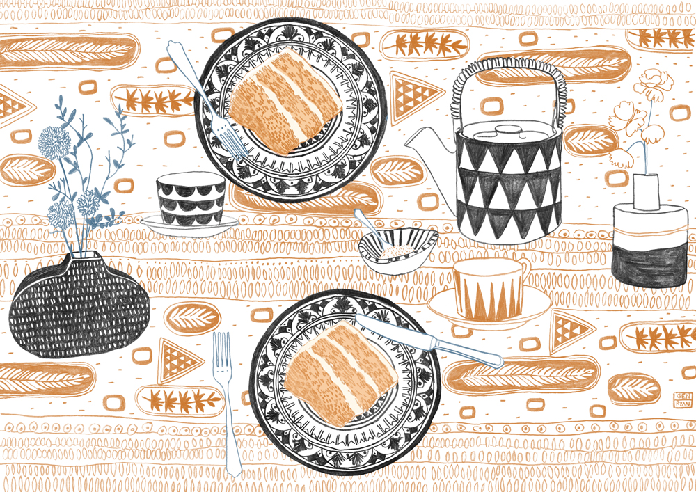 Tea with XX   Illustration for Special Edition XX of Idecologie out 10.3.15