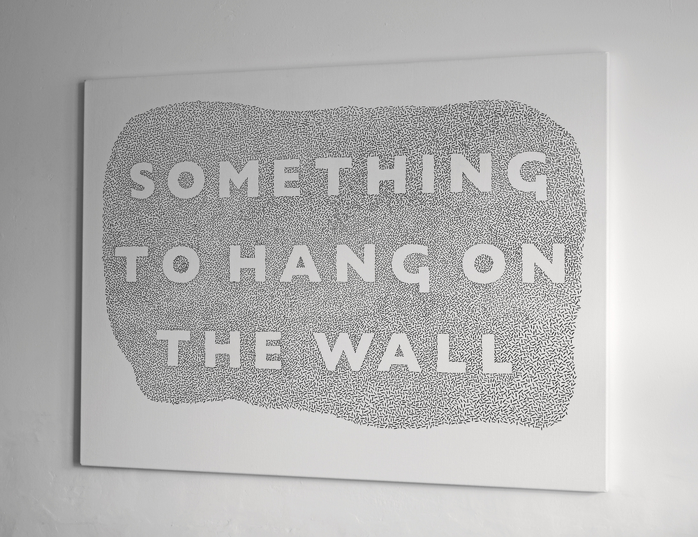 'Something to hang on the wall', David Bellingham, 2013
