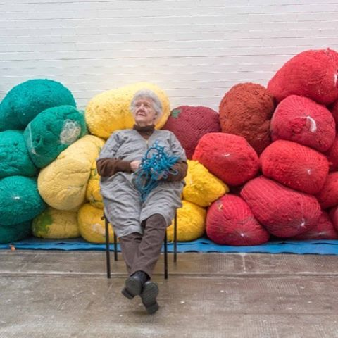 Don't miss our interview with Sheila Hicks, currently exhibiting in Tramaw #sheilahicks #interview #tramway #glasgowinternational2016 #textiles #crochet #weaving #sculpture #glasgow