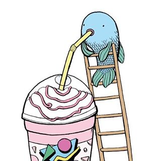 ARTIST FEATURE: Ali Horn #illustration #print #feature #art #fish #glasgowcityarts #glasgow #visualart #milkshake