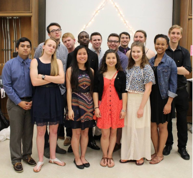 APOLLO '15-'16 - Front row (left to right): Moises Correa, Emily Bingham, Jasmine Liu-Zarzuela, Jessica Martinez, Sarah Milligan, Zoe CaganBack row (left to right): TJ West, Tyler Jacks, Nick Nunley, Austin Byers, Donald Hale, William Wright, Natalie Miller, and Christopher Luebke-Brown