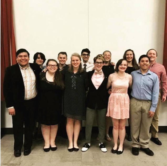 OPUS '16-'17 - Front row (left to right): Raul Facundo, Sara Morales, Megan Darlington, Ally Morales, Nicole Pagliai, Austin CruzBack row (left to right): Nat Hsu, Jake Wohleb, MJ Jadeja, Lauren Batchelor, Bella Dolande, Riley Dennison