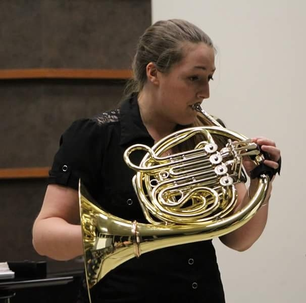 Bri Moehnke - Congrats to Bri for winning the district and province rounds for the Sterling Senior Achievement Award! Bri is currently a senior Music Studies major at the Butler School of Music. In the fall, Bri will be working at Crockett HS as their new assistant band director!