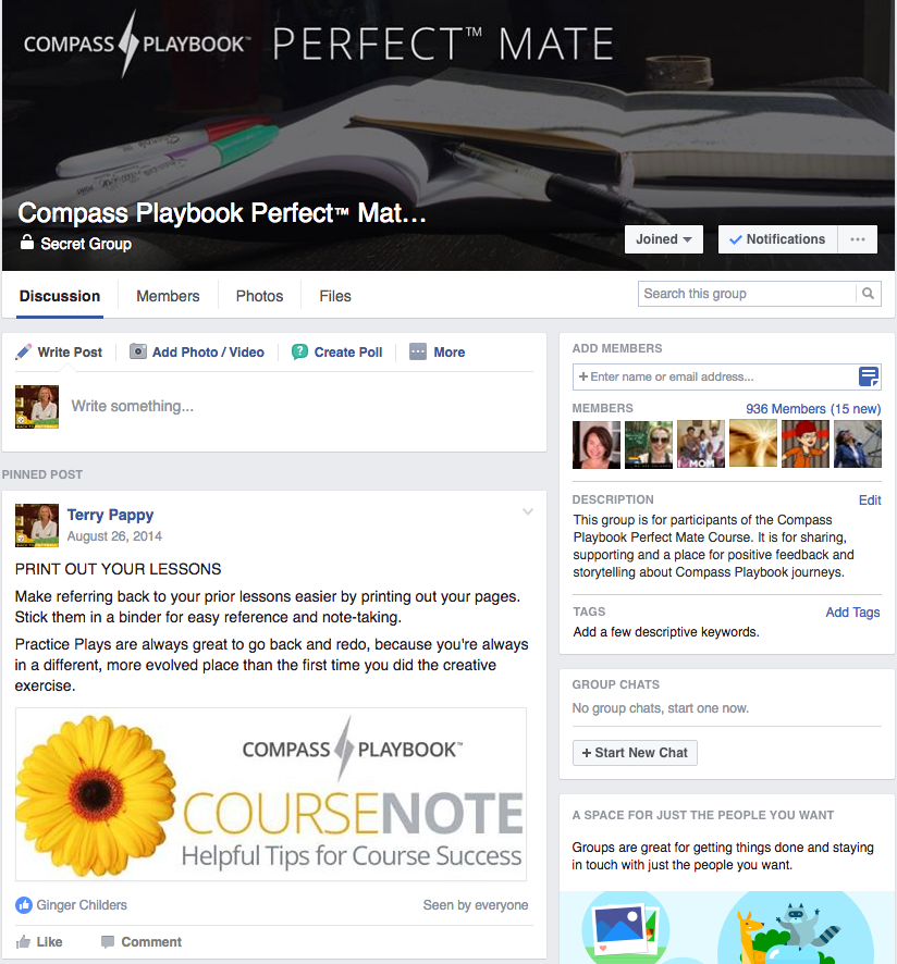 Compass Playbook Perfect Mate Facebook Group