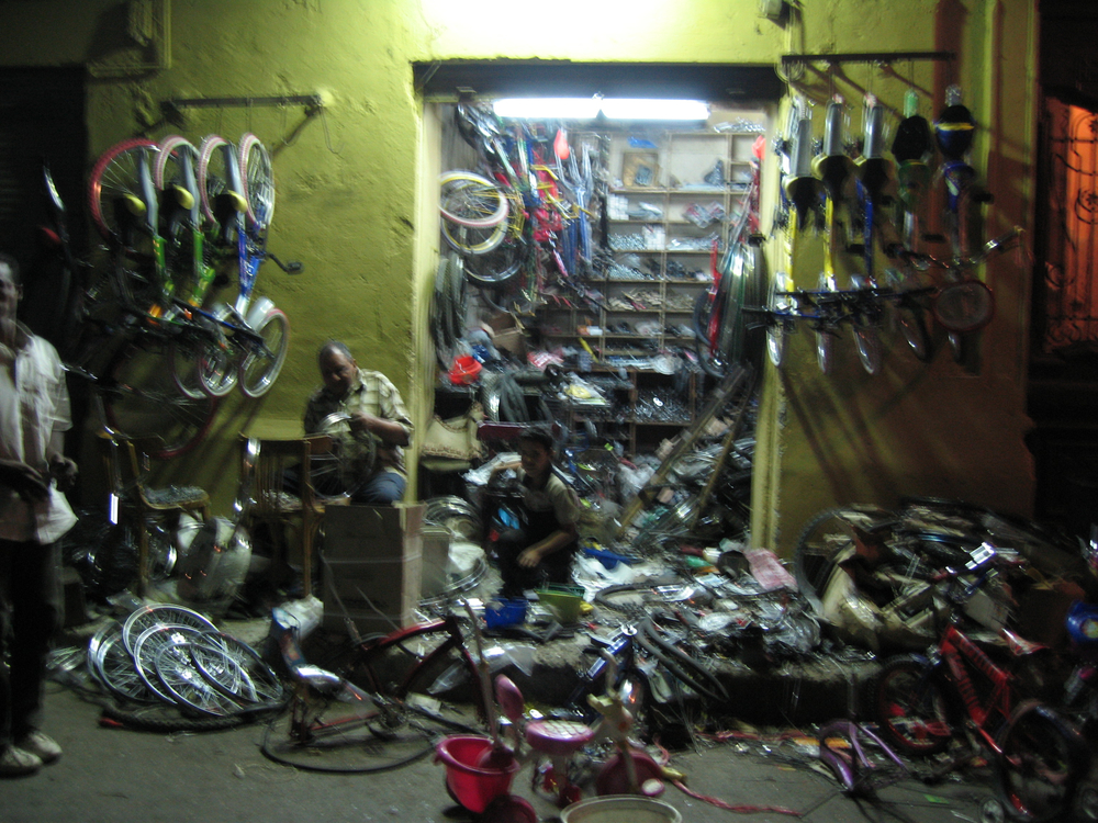 Bike shop, Ataba, Cairo. ©Elliott Colla (2005)