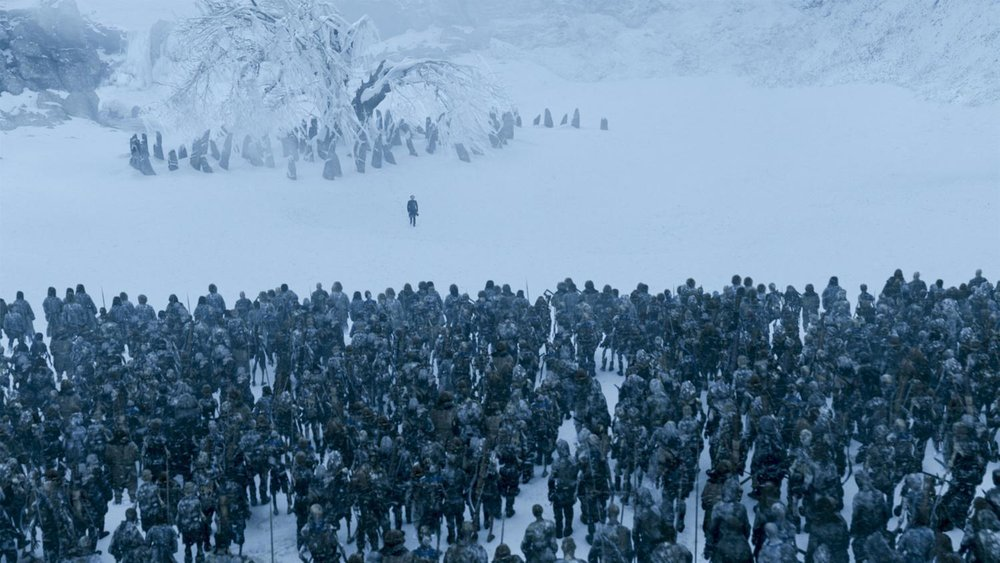 White Walkers at the Night's Watch Wall,  Game of Thrones  (2017)