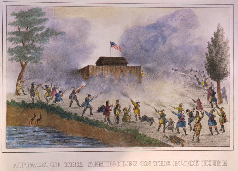 Lithographs of events in the Seminole War in Florida in 1835. (Charleston, S.C.: T.F. Gray and James, 1837.