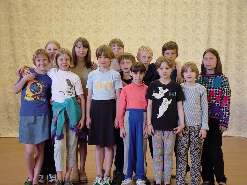 This is the original crew of orphaned children that Trey met in Kostroma, Russia.