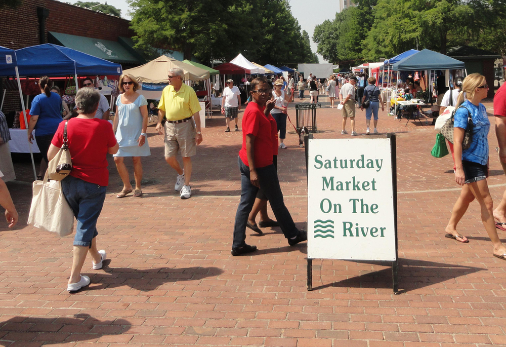 Enjoy a Saturday stroll through the Augusta Market on the River
