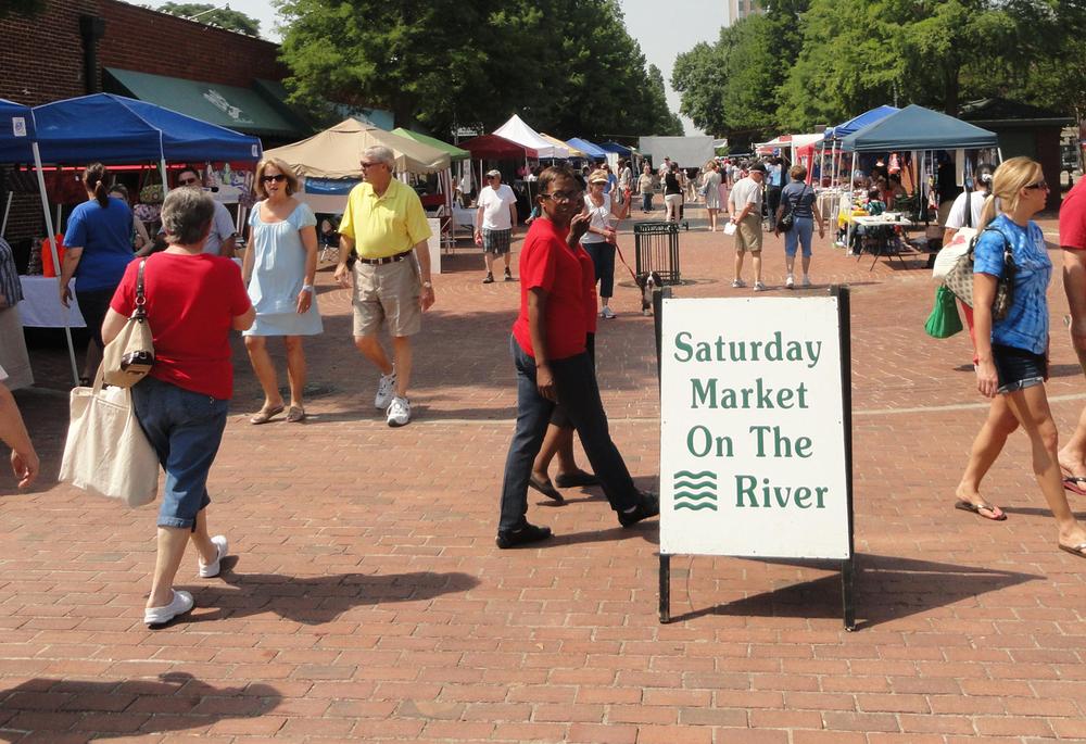 Enjoy a Saturday stroll through the Augusta Market on the River