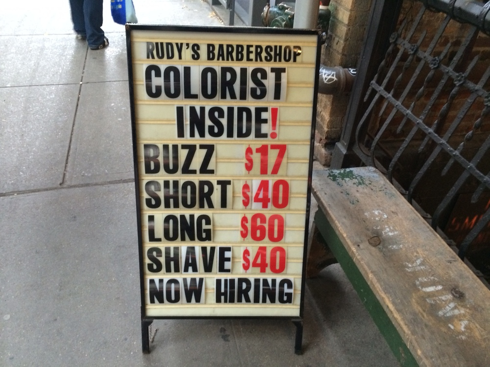 Rudy's Barbershop--Now hiring colorists!