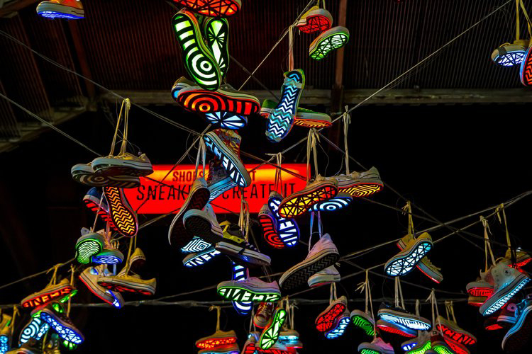 Sneakers, Converse,  Lighting / Installation, 2013
