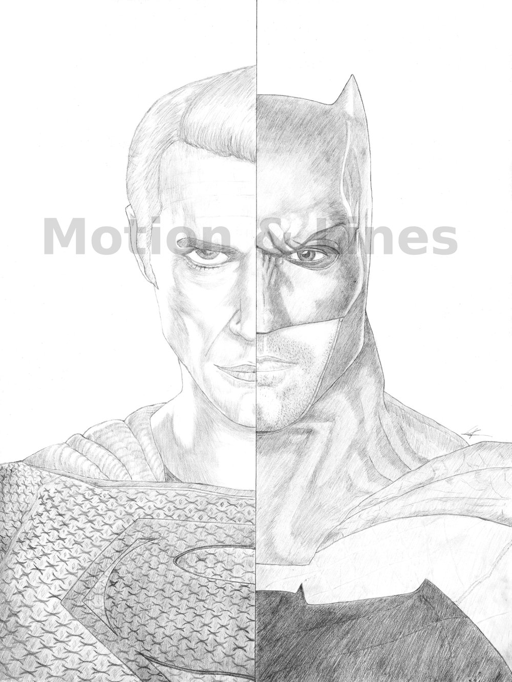 Batman/Superman   18x24, drawn on Bristol paper with Tombow pencils. Prints available at the Store in both 18x24 and 11x17 sizes.