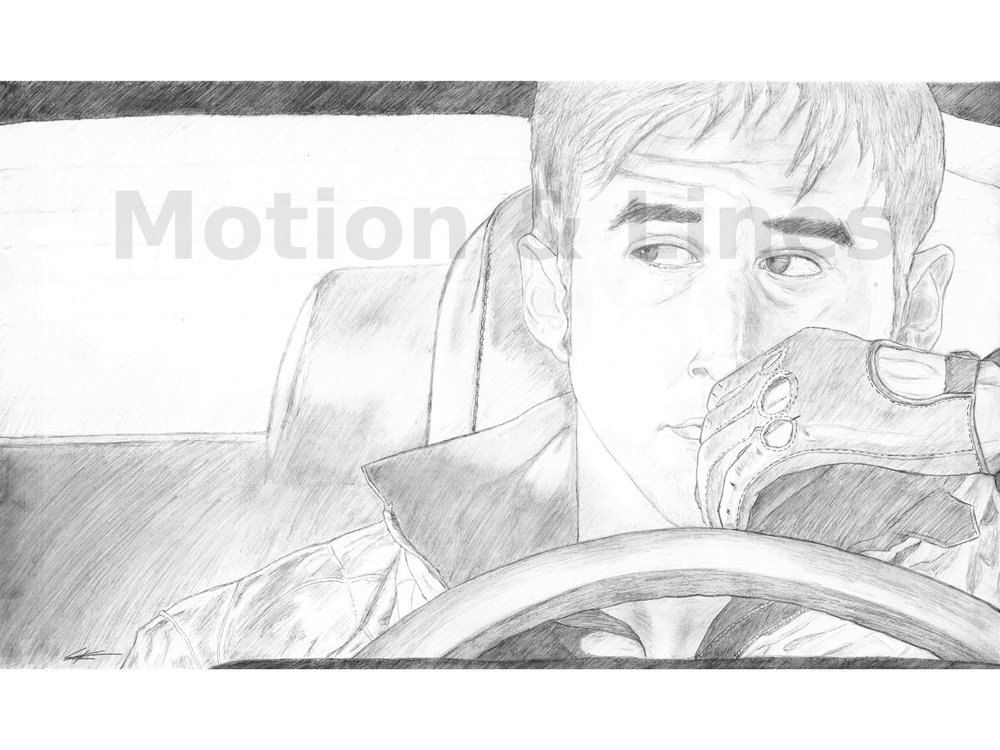 Drive   18x24, drawn on Bristol paper with Faber-Castell pencils. Prints available at the Store in both 18x24 and 11x17 sizes.