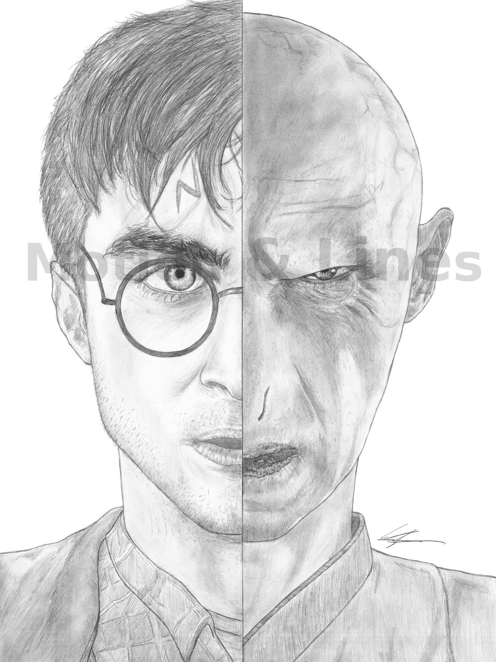 Harry Potter   18x24, drawn on Bristol paper with Tombow pencils. Prints available at the Store in both 18x24 and 11x17 sizes.