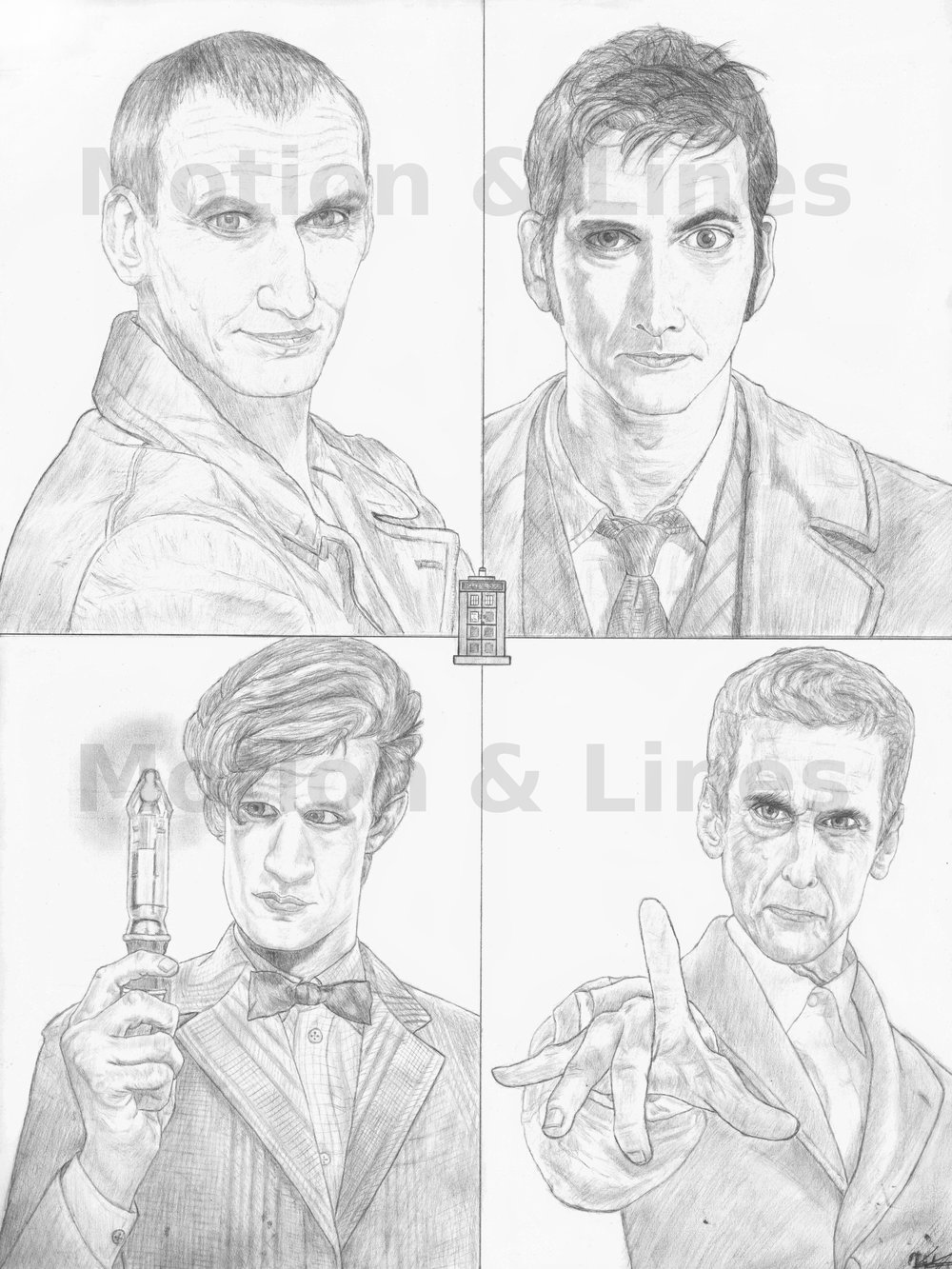 Doctors   18x24, drawn on Bristol paper with Tombow pencils. Prints available at the Store in both 18x24 and 11x17 sizes..