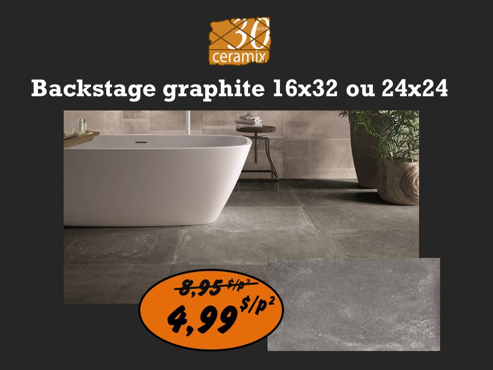 Backstage graphite 16x32 ou 24x24