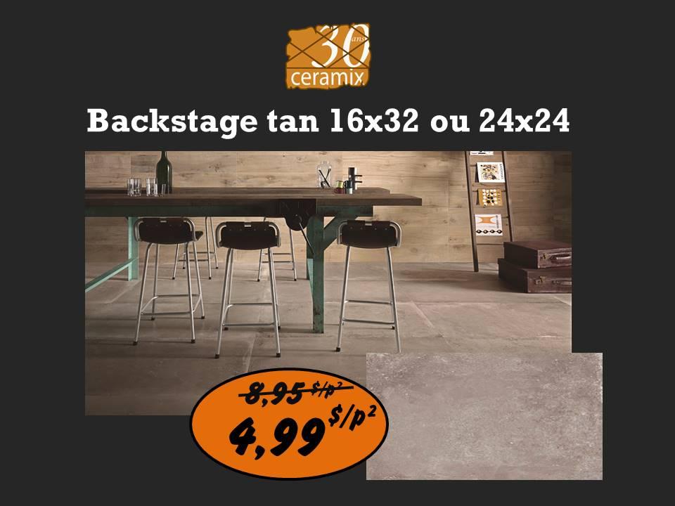 Backstage tan 16x32 ou 24x24