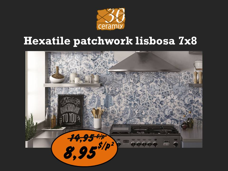 Hexatile patchwork lisbosa 7x8