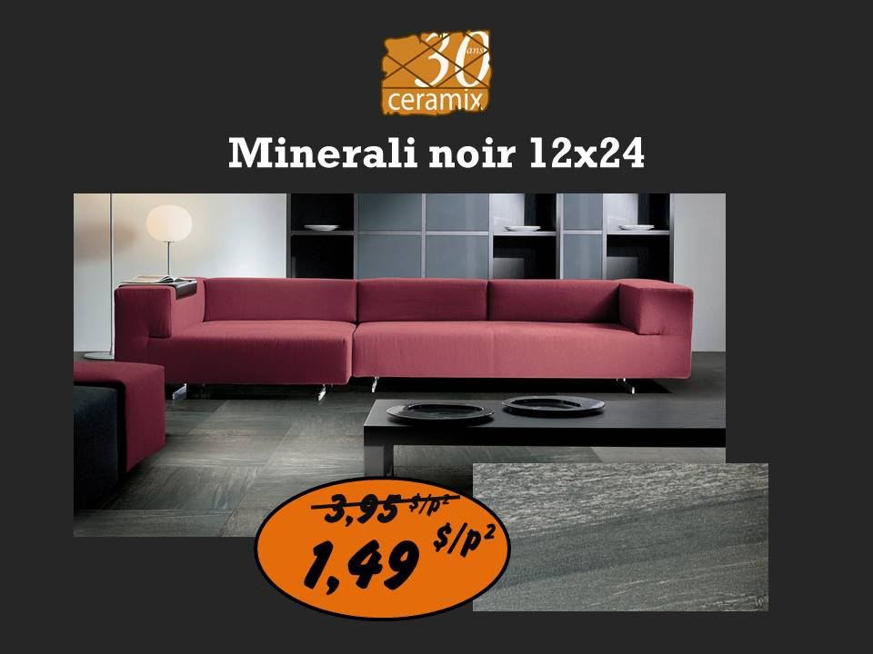 Minerali noir 12x24