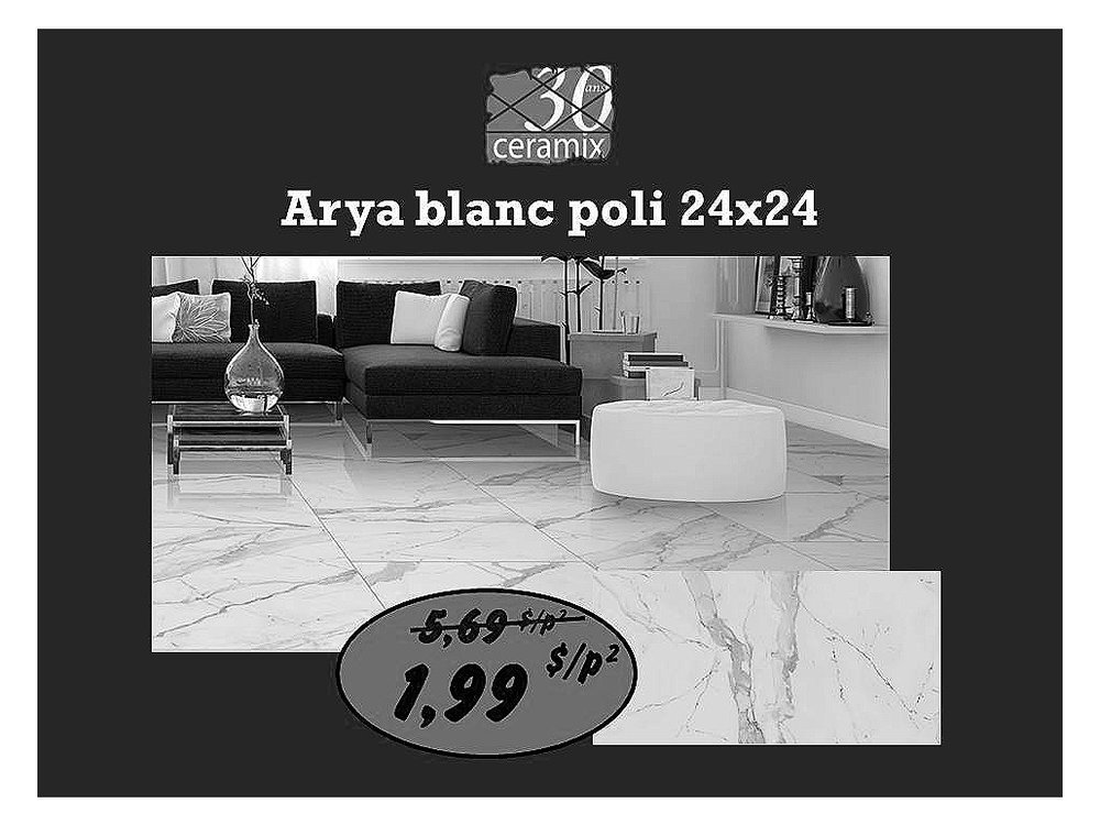 Arya blanc poli 24 x 24