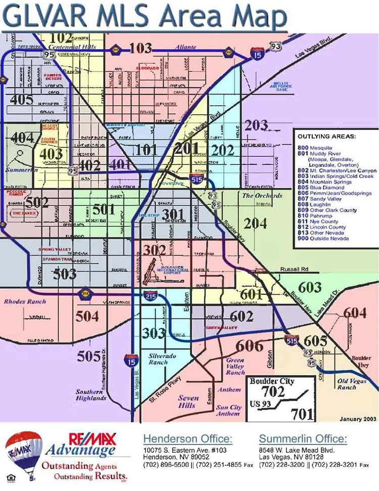 Maps Cunningham Group Las Vegas Henderson Nevada Real Estate