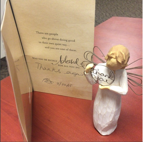 A very happy first time buyer, Brenda Gray, sent a thank you gift to Shawn Cunningham