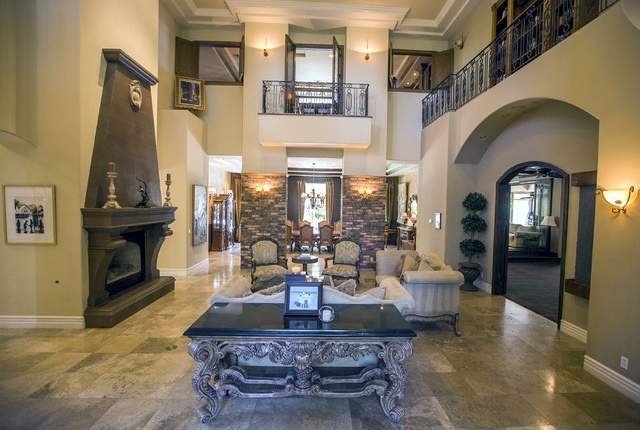 The living room at 2261 Candlestick Avenue in Henderson is seen on Monday, ay, 31, 2016. The four-bedroom 8406 square-foot home is on the market for $1,675,000. Jeff Scheid/Las Vegas Review-Journal
