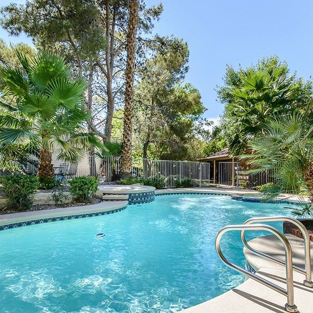 Don't you want to explore the backyard then dip into the spa? Not only does this 4 bedroom home come with a pool/spa and playground area, but it also has an office and upgraded kitchen.⠀ ⠀ -Presented by Shawn and Kyle Cunningham, Cunningham Real Estate Group at RE/MAX Advantage ⠀  #OurBrandisService #lasvegas #homesforsale #vegasrealestate#lasvegasrealestate #lasvegasrealtor #lasvegashomes #Cunninghamgroup #poolproperty