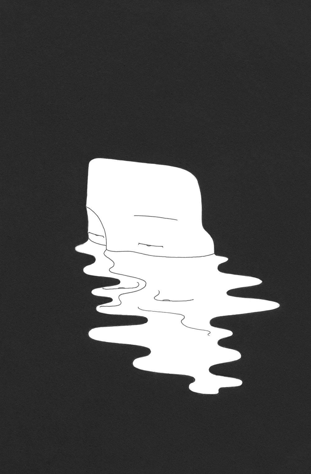 얼 / Face the truth Op. 0123CS-7 -21 x 29.7 cm,종이에 펜, 마커 / Pigment liner and marker on paper, 2016 Commissioned by Minumsa