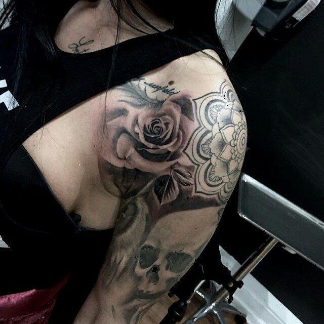 Tattoo by @anthony_jolon -  rose filler Anthonyzuleta@yahoo.com #rosetattoo #bng #blackandgrey #inkjecta #chicagostatetattoo #chicagotattooartist #Regrann