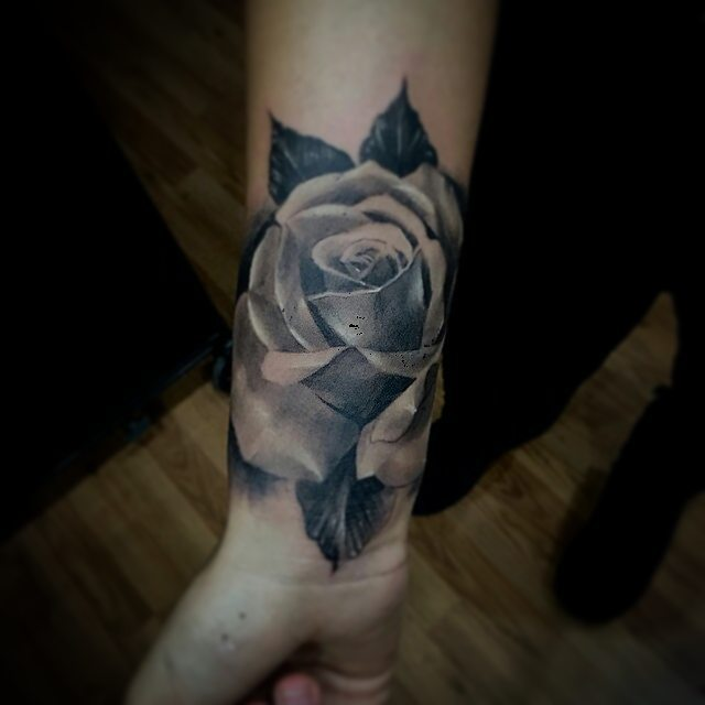 Tattoo by @anthony_jolon -  Rose tattoo #bng #blackandgrey #chicagostatetattoo #chicagotattooartist #inkjecta #rosetattoo #Regrann #chicagostate #wickerpark #humboldtpark #wickerpark #instagood #art