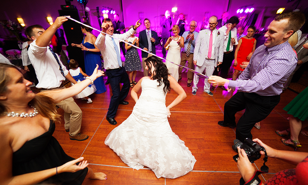 Bride Dancing Limbo Stick Reception Vibrant Colorful South Bend Indiana Michigan Chicago - joannaFOTOGRAF Joanna Reichert.jpg