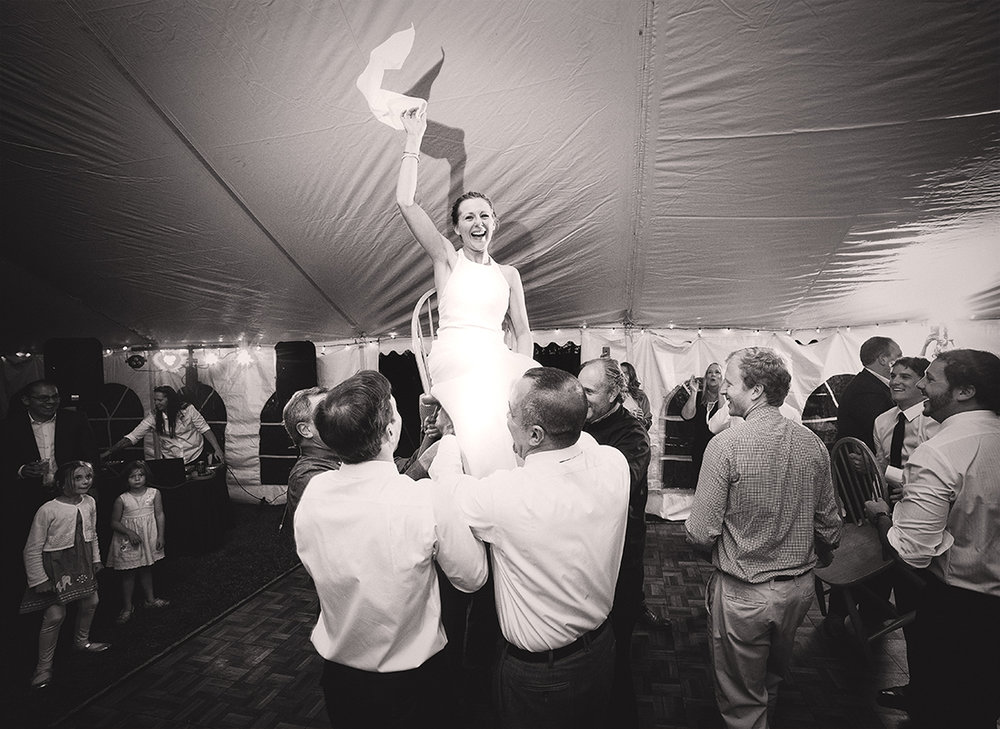 Jewish Wedding Bride Hora Kallah Reception Summer Tent B&W - joannaFOTOGRAF Joanna Reichert.jpg