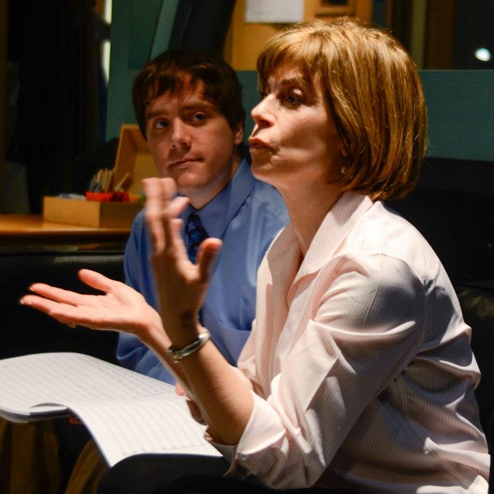 Martin Hebel and JoAnn Falletta, Abbey Road Studios, (2011).