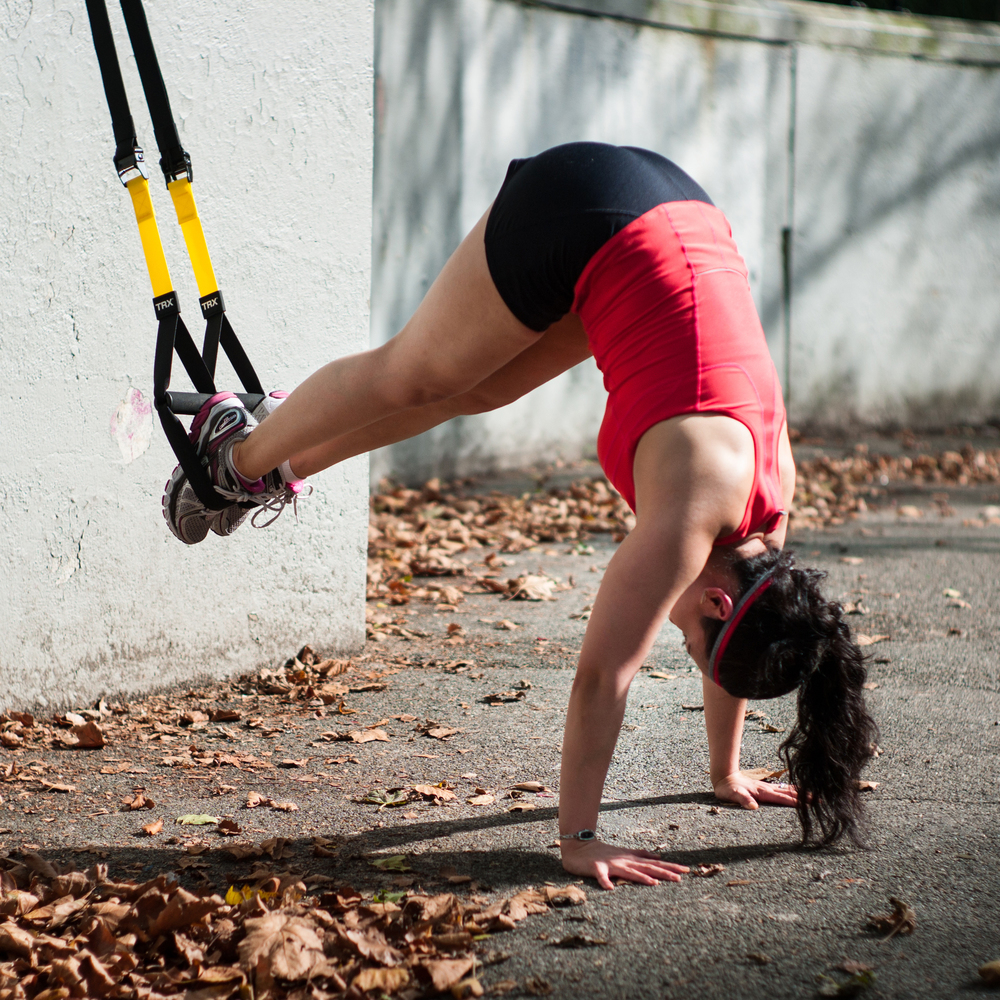 TRX (Total Body Resistance Exercise)  - A unique form of strength training, which builds strength, flexibility, balance, and core stability all at once using your own body weight.  TRX is versatile, catering to any fitness level.      Cristina can create a TRX program in the convenience of your home, office, or the outdoors.